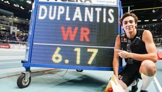 Швед Дюплантіс встановив новий світовий рекорд у стрибках з жердиною