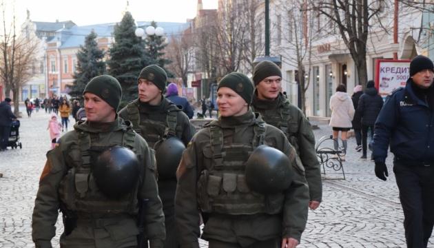 У Мукачеві в посиленому режимі патрулюють нацгвардійці
