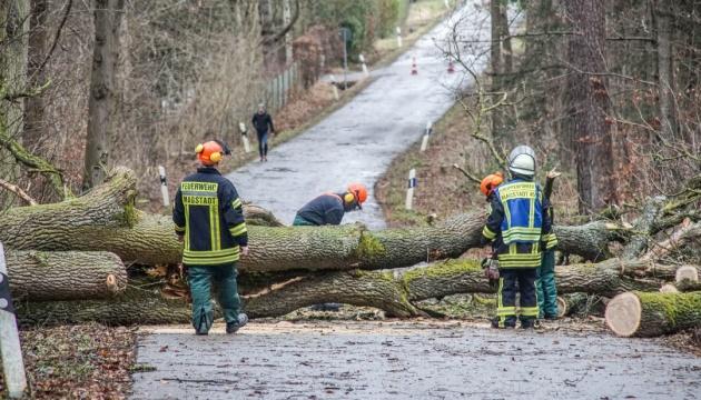 """Буревій """"Сабіна"""" у Німеччині валить дерева і зриває дахи, є жертви"""