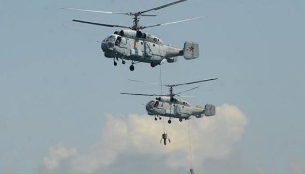 Росія провела військові навчання з вертольотами та субмариною в окупованому Криму