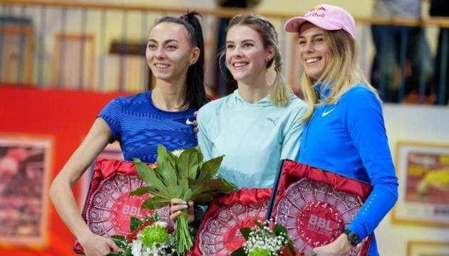 Українки вибороли всі призові місця на змаганнях зі стрибків у висоту в Словаччині