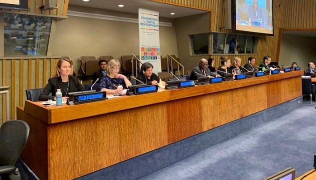Соколовская в ООН назвала приоритеты в социальной сфере