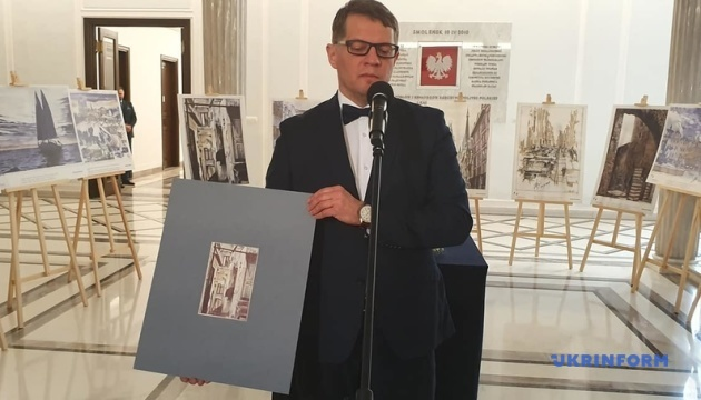 Im polnischen Sejm Suschtschenkos Gemäldeausstellung eröffnet