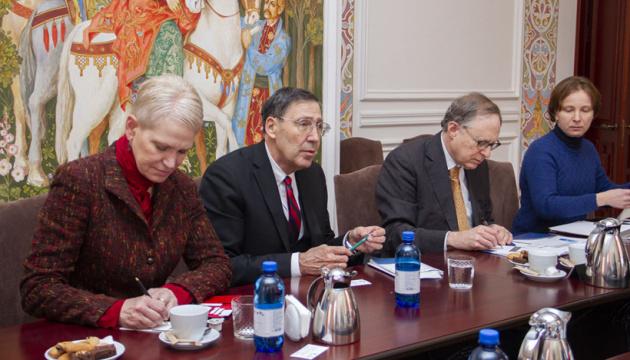 El viceministro Kyslytsia se reúne con la delegación del Atlantic Council