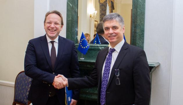 Пристайко обговорив з єврокомісаром інтеграцію України з ЄС
