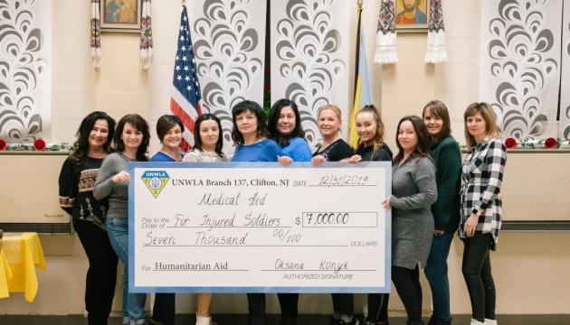 Союз українок Америки у Кліфтоні передав $7 тисяч на лікування поранених захисників України