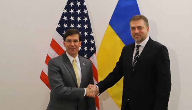 Zahorodniuk meets with U.S. Secretary of Defense to discuss military-technical cooperation