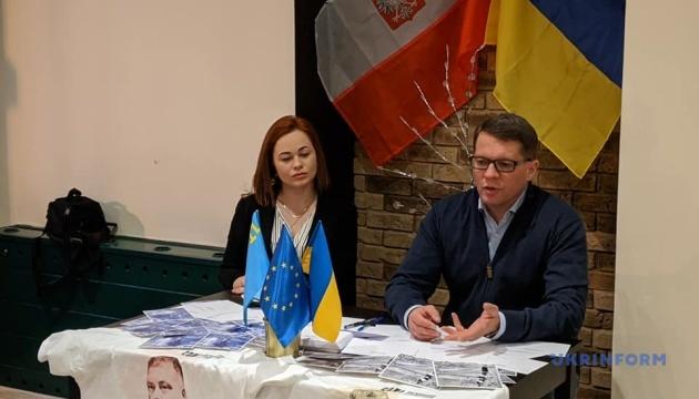 Сущенко у Торуні зустрівся з українцями та провів флешмоб на підтримку політбранців