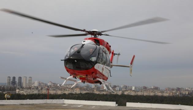 Вертоліт з тяжкохворим пацієнтом сів на даху Інституту серця