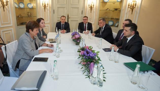"""Зеленський обговорив із директоркою МВФ судову реформу та """"законопроєкт про банки"""""""