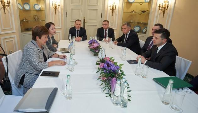 Zelensky discute de la réforme judiciaire et du « projet de loi bancaire » avec la directrice générale du FMI