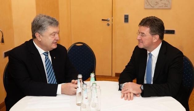 Порошенко у Мюнхені обговорив із Лайчаком продовження санкцій проти РФ