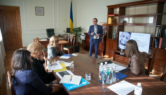 Олена Зеленська обговорила реформу шкільного харчування з головою ЮНІСЕФ в Україні
