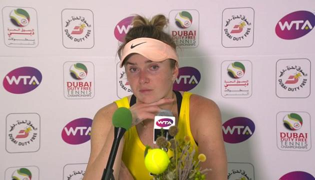 Світоліна прокоментувала свою поразку на старті змагань у Дубаї