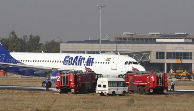 В Індії перед зльотом загорівся пасажирський літак