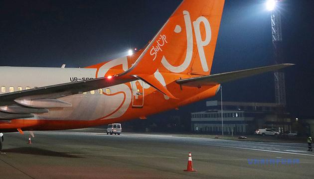Літак SkyUp з Китаю пройшов дезінфекцію