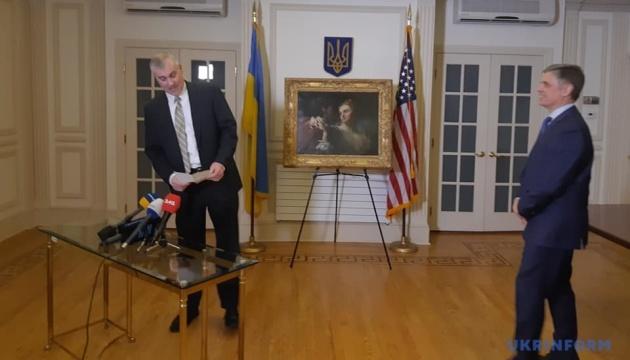 США торжественно вернули Украине картину, похищенную нацистами в годы Второй мировой