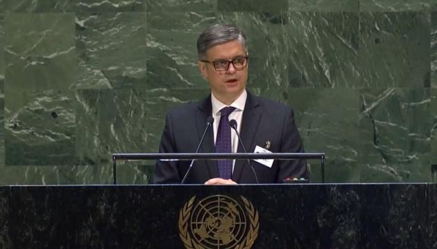 Prystaiko à l'ONU: le Donbass et la Crimée occupés sont devenus un territoire de peur et de terreur