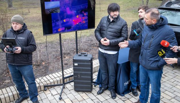 У Києві обстежують тепломережі за допомогою дронів