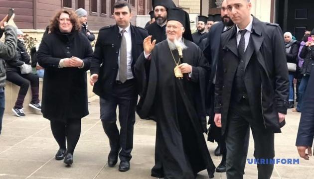 Українська делегація приїхала до Стамбула привітати Вселенського патріарха