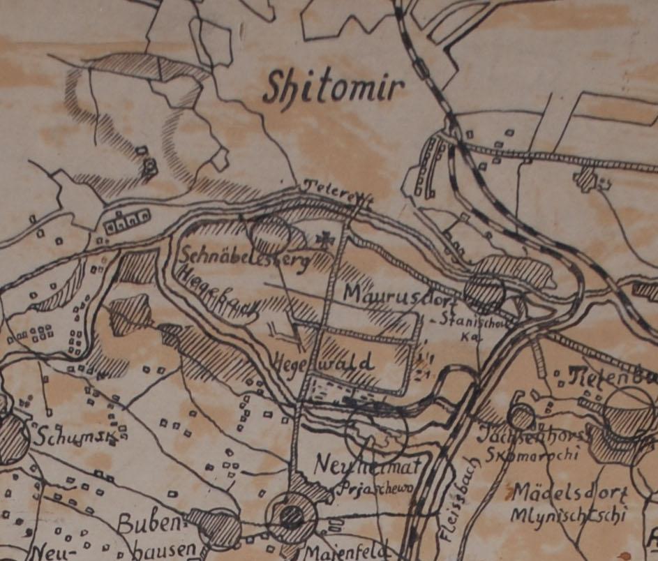 Німецька карта Хегевальду