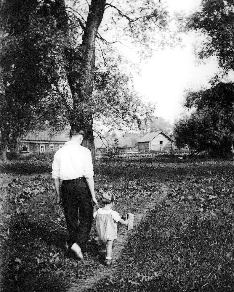Арсеній Тарковський із сином Андрієм