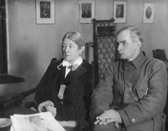 Віра Фіґнер із чоловіком. Москва, 1927 р.