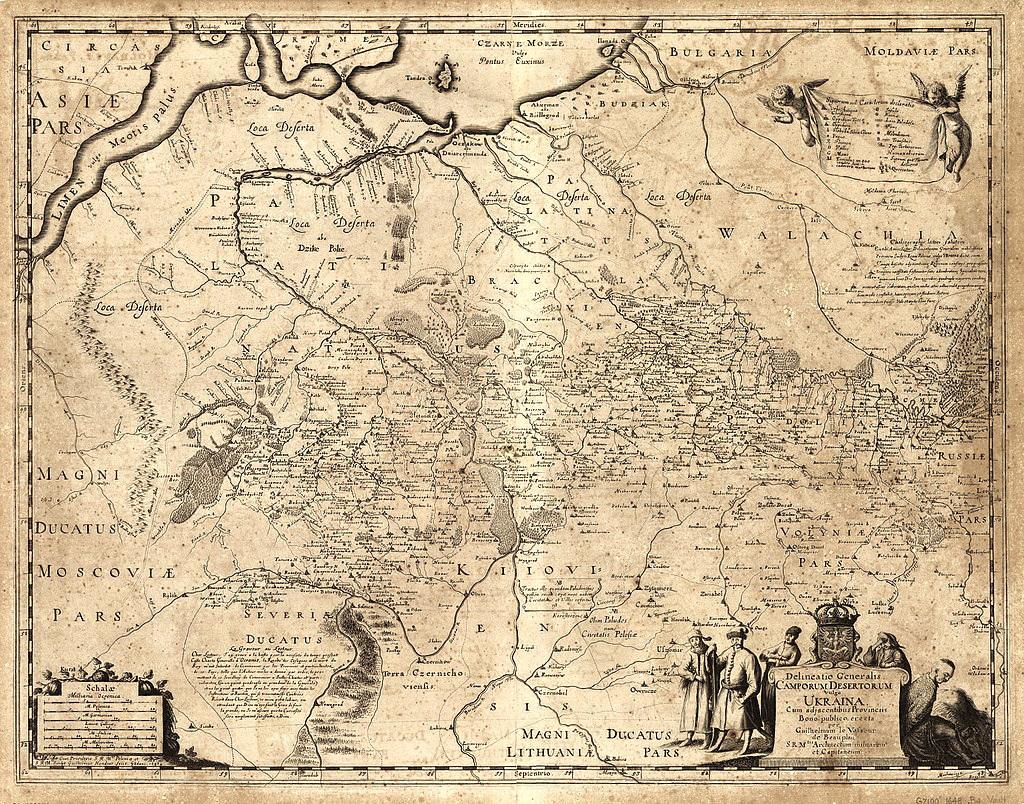 6- генеральна карта України за описами де Боплана, 1648 р.