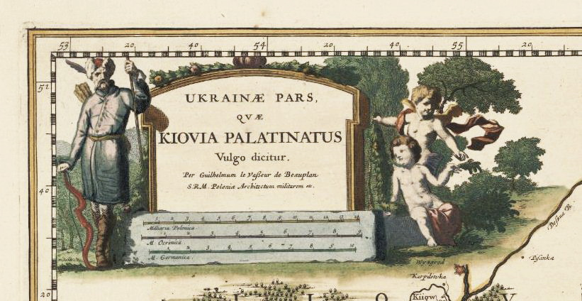 9 фрагмент мапи Ukrainae pars quae Kiovia Palatinatus, 1661 р.