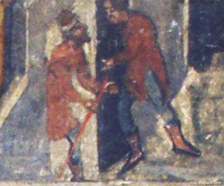 10 фрагмент розпису Пастир добрий, церква Св. Юри, Дрогобич, друга половина XVII століття