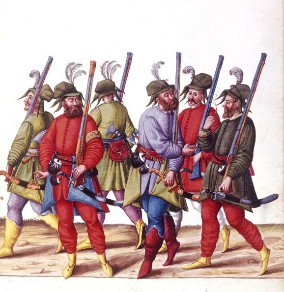 17 турецькі вояки з мініатюри кінця XVI сторіччя, вузькі види поясного одягу 1