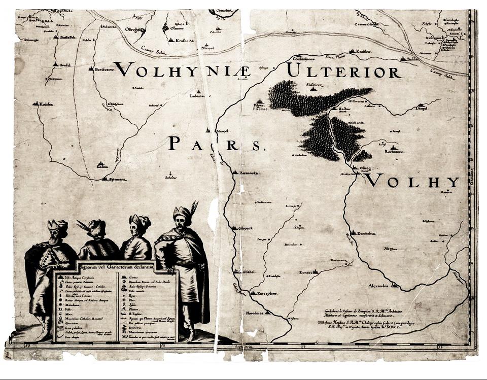 24 один із картушів на мапі де Боплана, 1648 р.