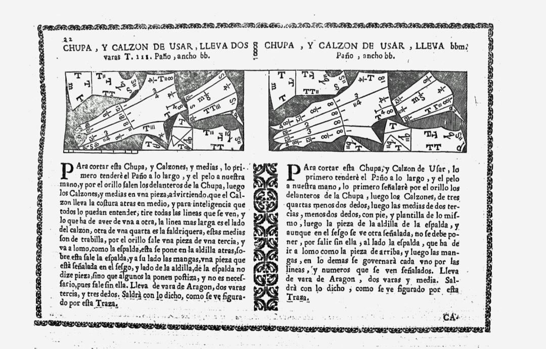 """23 аркуш з іспанської кроїльної книги з  написом """"саlzon""""."""