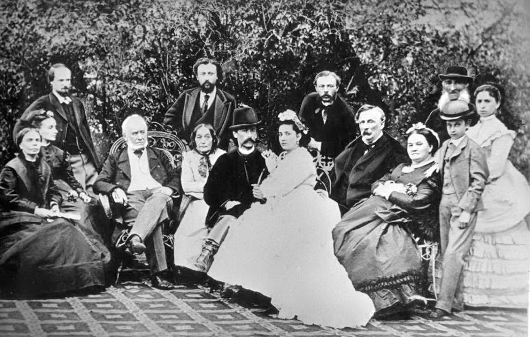 груповий портрет Тарновських з гостями в Качанівці. 1860-ті рр.