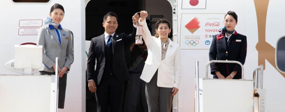 Рейсом з Афін у Токіо прибув олімпійський вогонь