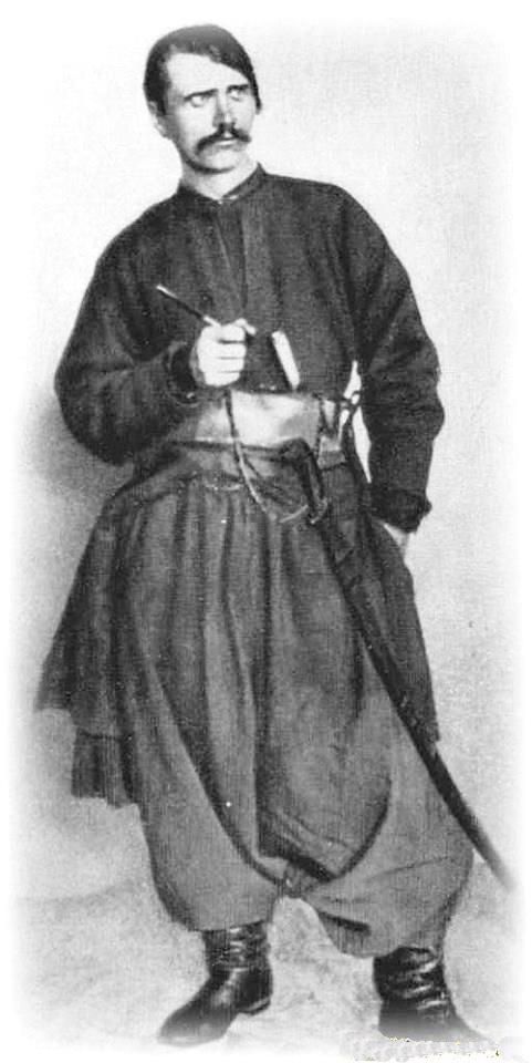 Дмитро Яворницький у костюмі запорожця, 1890 р.