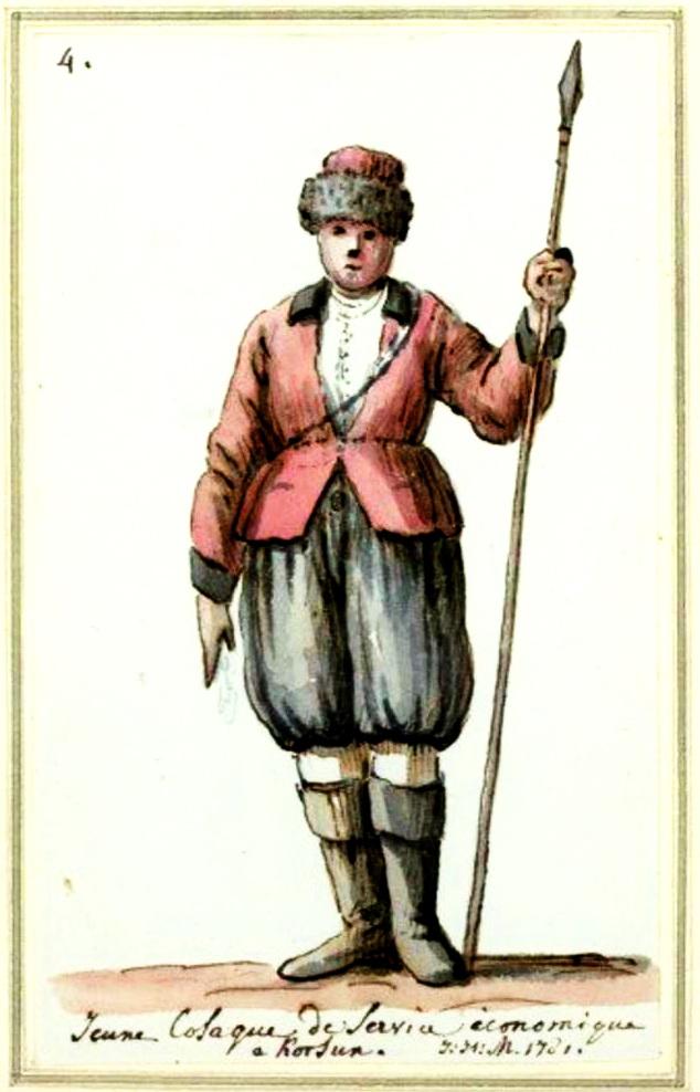 Козак надвірний, 1780-ті роки