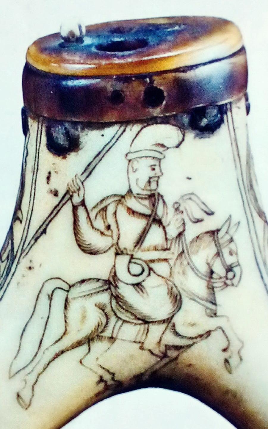 Aрагмент натруски, кін. XVІІ – поч. XVIII ст. Козак у кунтуші