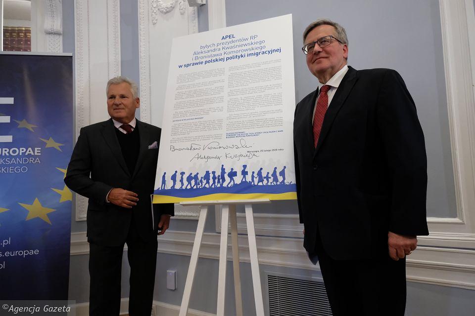 Александер Кваснєвський і Броніслав Коморовський / Фото: Sławomir Kamiński / Agencja Gazeta