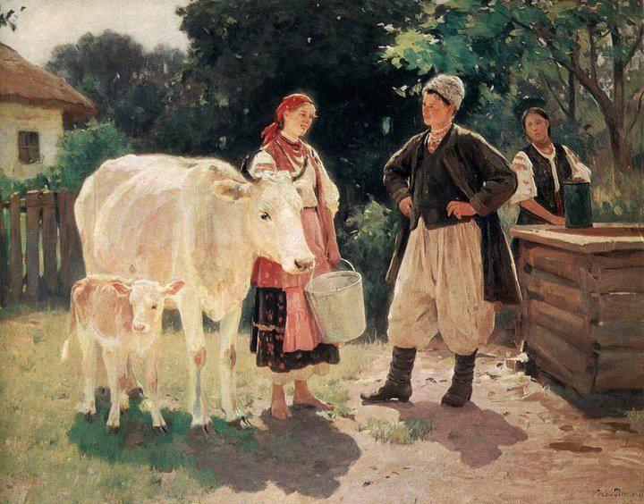 Суперниці. Біля криниці, 1909 р.