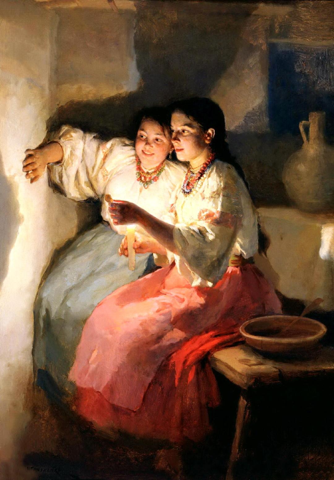 Святочне ворожіння, 1888 р.