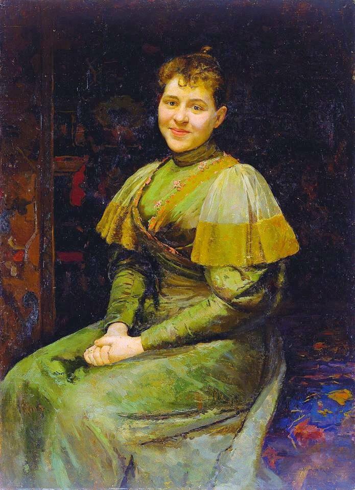 Портрет дружини художника Олександри ,1893 р.