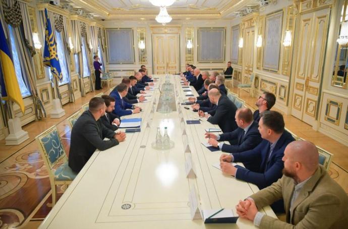 Зустріч Володимира Зеленського з олігархами і великим бізнесом (16 березня, Київ)
