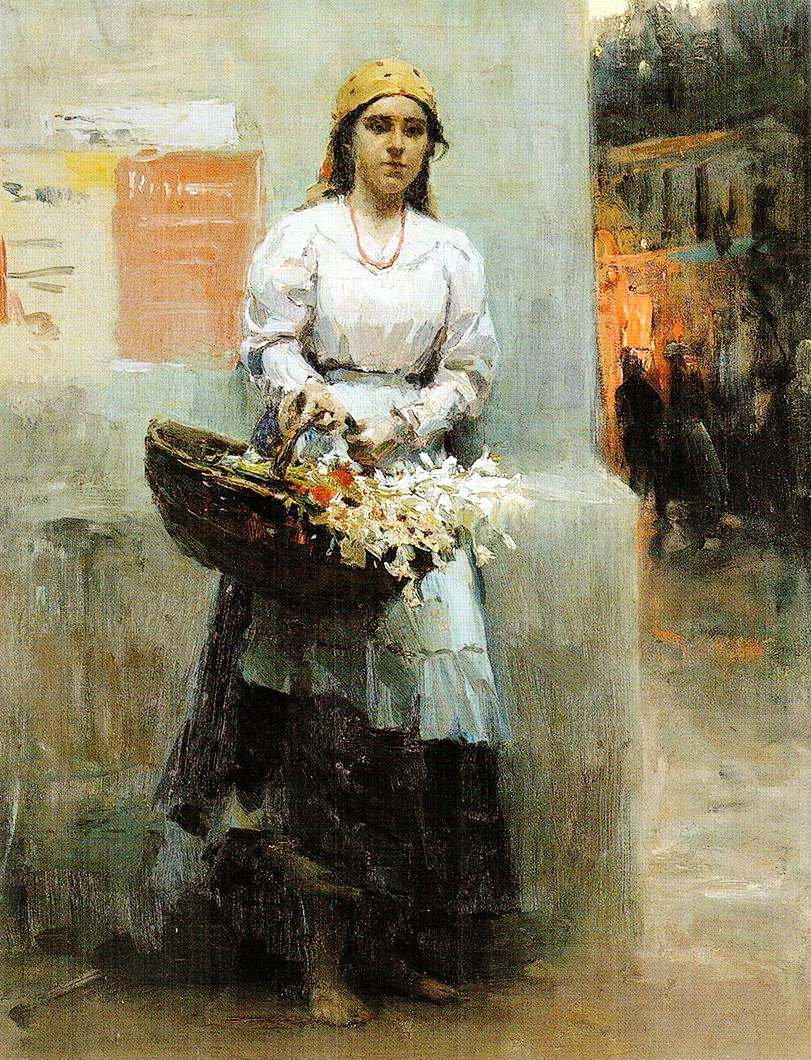 Київська квіткарка, 1908 р.