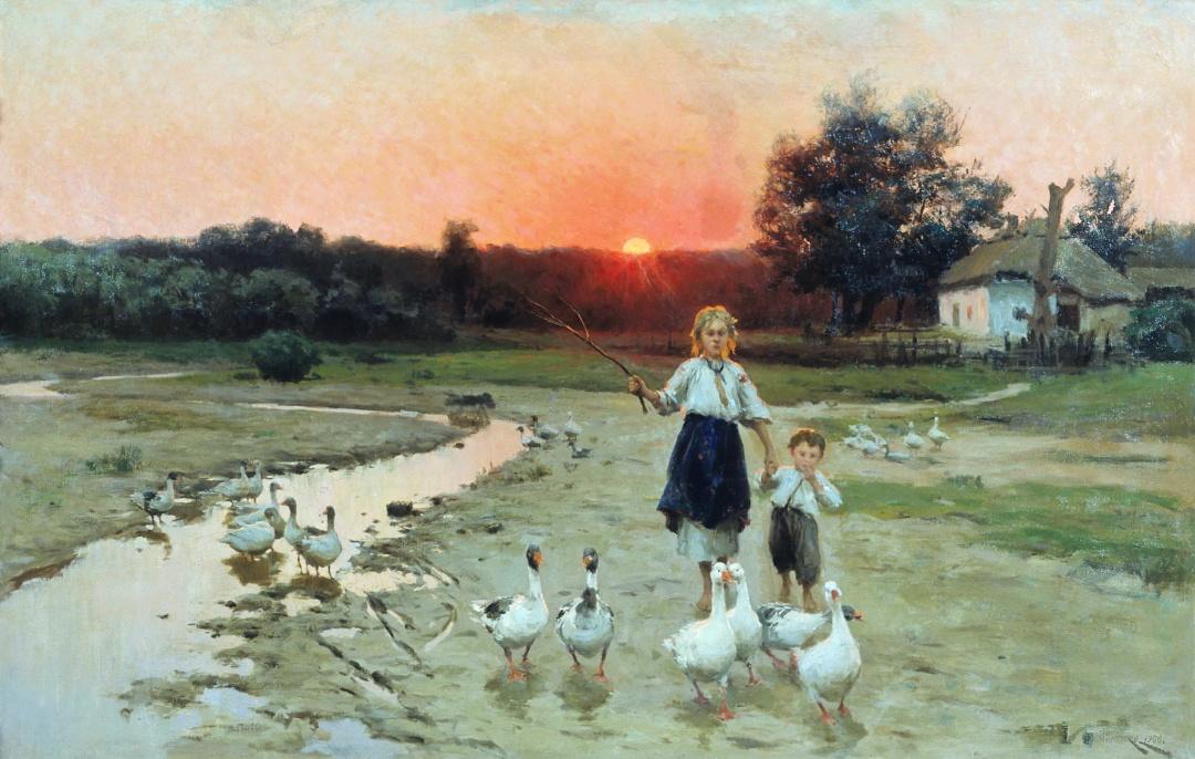 Вечоріє, або Останній промінь сонця, 1900 р.