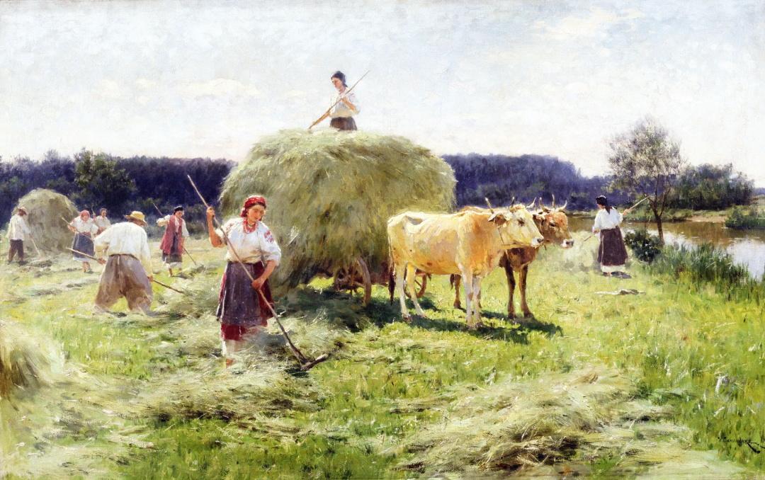 Збирання сіна в Україні, 1907 р.