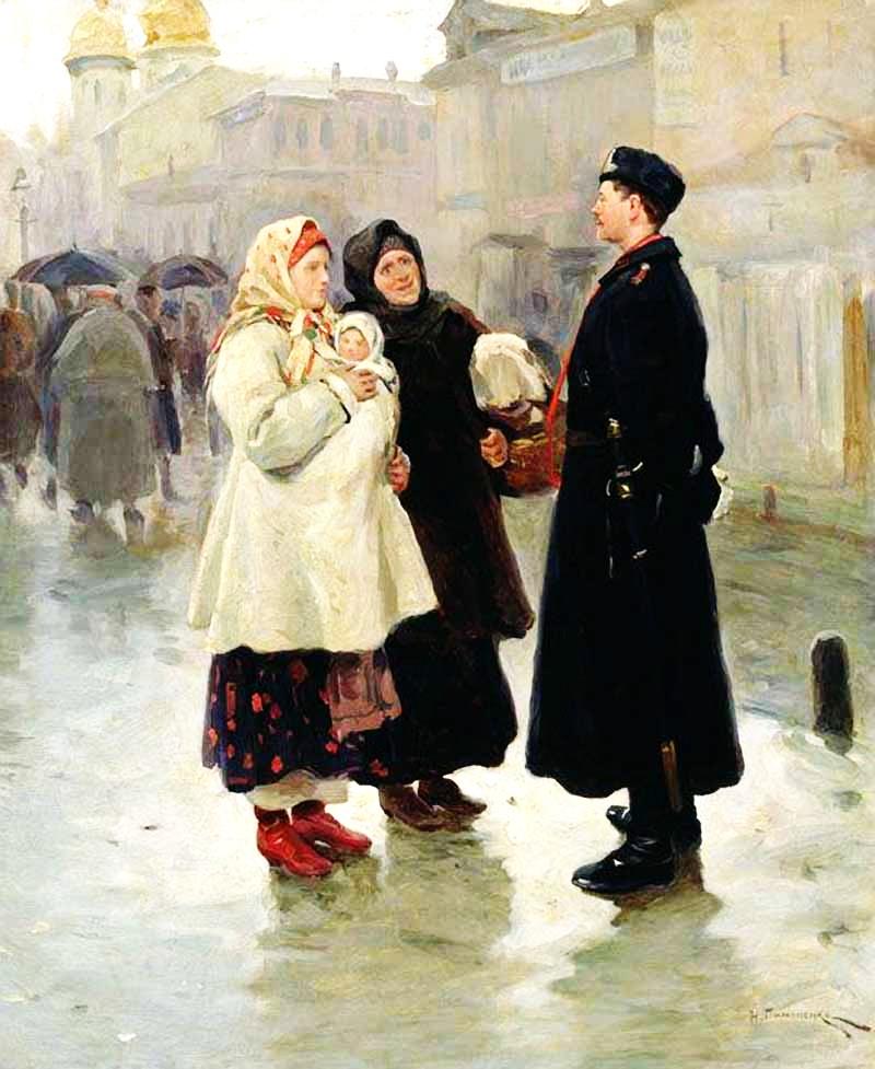 Зустріч із земляком , 1908 р.