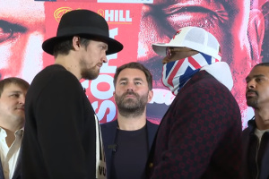 Usyk, Chisora face off for first time