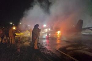 На Филиппинах загорелся самолет с медиками на борту