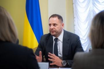 Treffen von Ermak mit EU-Botschaftern